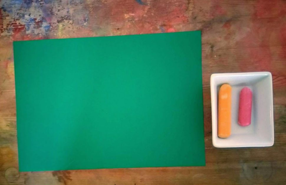Příprava nakresbu voskovkami