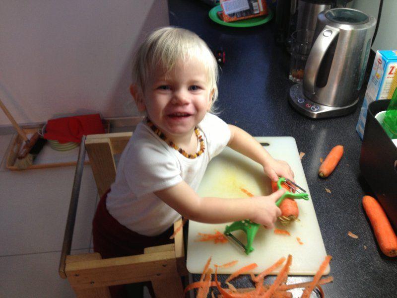 Dítě vkuchyni