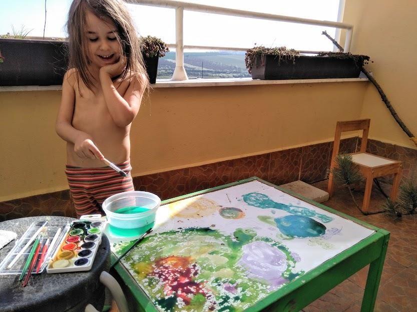 výtvarka nabalkóně - hrajeme si spředškolákem