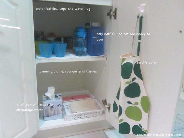 Pití aúklid - montessori vkuchyni