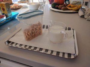 samostatné dítě - příprava snídaně