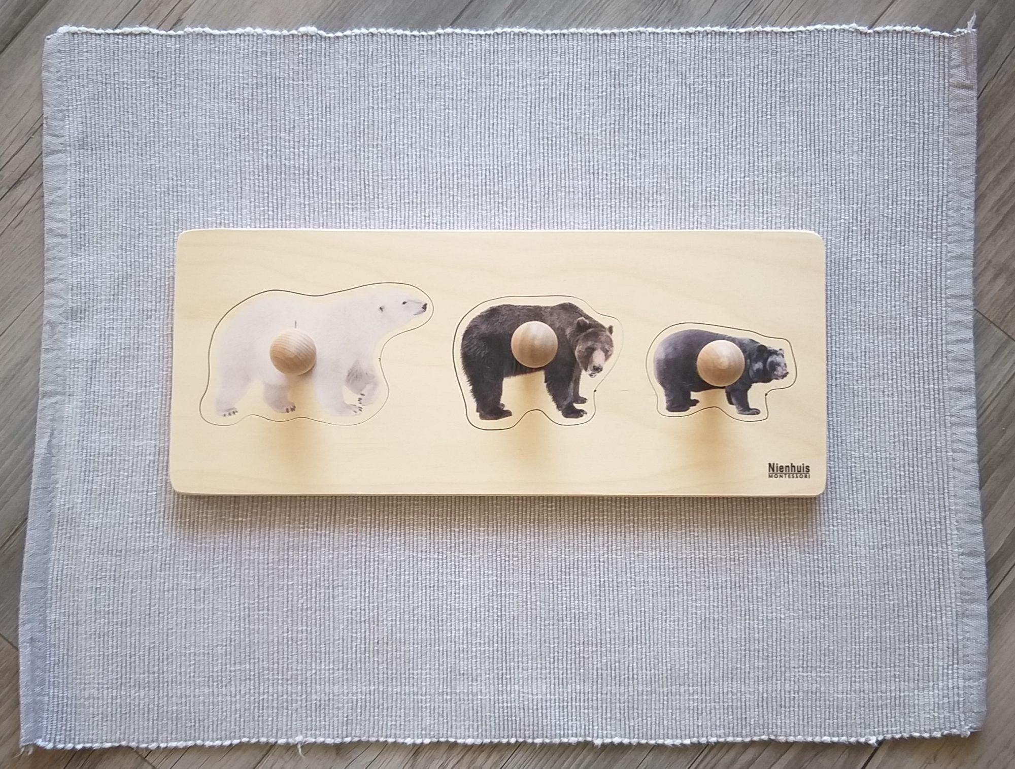 Vkládačka medvědi originál Nienhuis